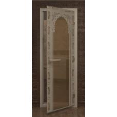 Дверь в хамам с рисунком
