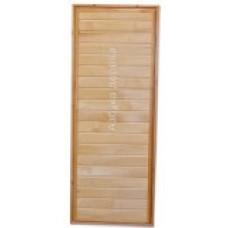 Двери для парных из липы и кедра со стеклом