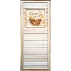 Двери с липовой коробкой с рисунком